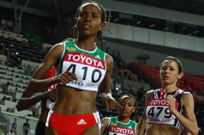 Meseret Defar on her way to winning gold in the women's 5000m (Getty Images)
