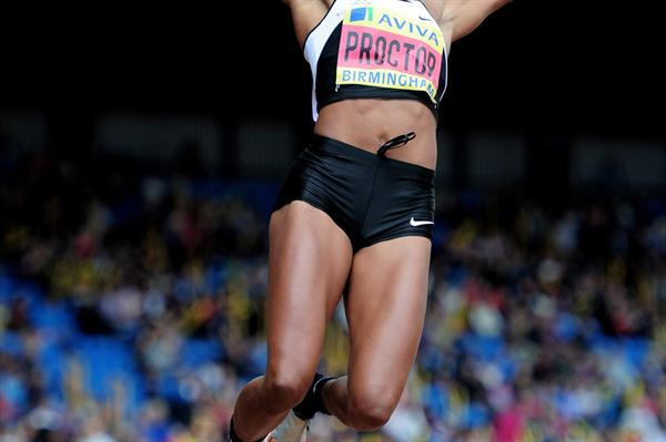 Shara Proctor sets national long Jump record at the 2012 Trials (Getty Images)