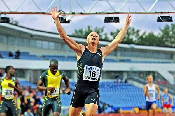 Johan Wissman (SWE) sets national 400m record in Malmö (Hasse Sjögren)