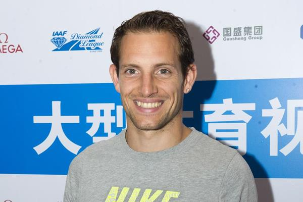 Renaud Lavillenie in Shanghai ahead of the 2014 IAAF Diamond League meeting (Errol Anderson)