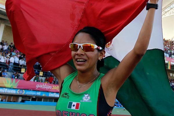 Marisol Romero after completing the 5000/10,000m double in Guadalajara (Getty Images)