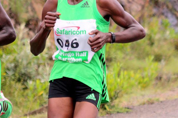 Joyce Jepkirui en route to victory at the Baringo Half Marathon (David Macharia)