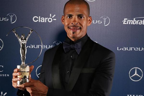 Felix Sanchez, winner of the 2013 Laureus Comeback of the Year award (Getty Images)