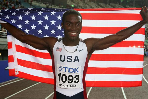 Kerron Clement of USA celebrates his gold medal in the 400m Hurdles Final (Getty Images)