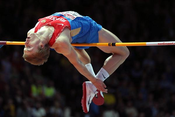 Sergey Mudrov sets a PB of 2.35m to win the High Jump in Gothenburg (Getty Images)