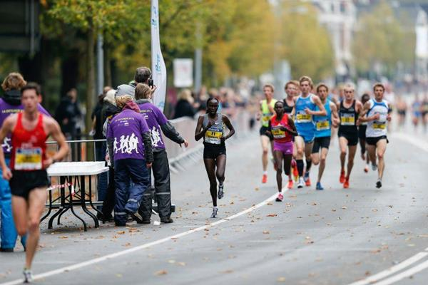 Viola Kibiwot on her way to victory over 4 miles in Groningen (Organisers)