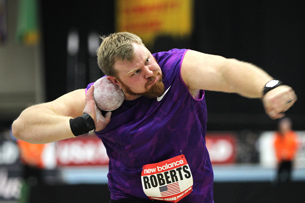 Kurt Roberts at the 2016 New Balance Indoor Grand Prix meeting in Boston (Andrew McClanahan)