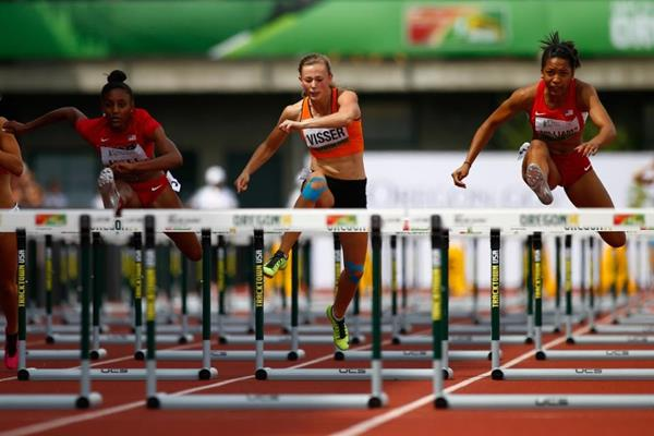 The women's 100m hurdles final at the IAAF World Junior Championships, Oregon 2014 (Getty Images)