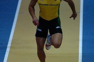 Simone Collio wins the 60m Italian indoor title (Lorenzo Sampaolo)