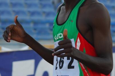 17-year-old Osman Yahya of Sudan at Arab Junior Championships where he won 800m and 1500m (Slim Gomri)