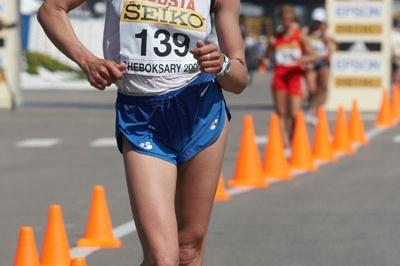 Tatyana Sebelina of Russia on her way to winning the silver medal in the Women's 20km race (Getty Images)