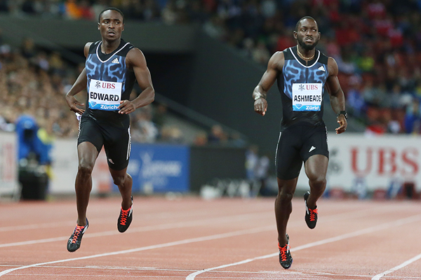 Alonso Edward wins the 200m at the IAAF Diamond League meeting in Zurich (Jean-Pierre Durand)