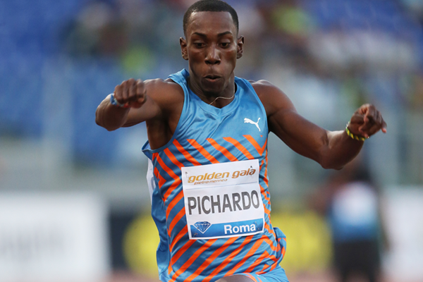 Pedro Pablo Pichardo in action at the IAAF Diamond League meeting in Rome (Gladys von der Laage)