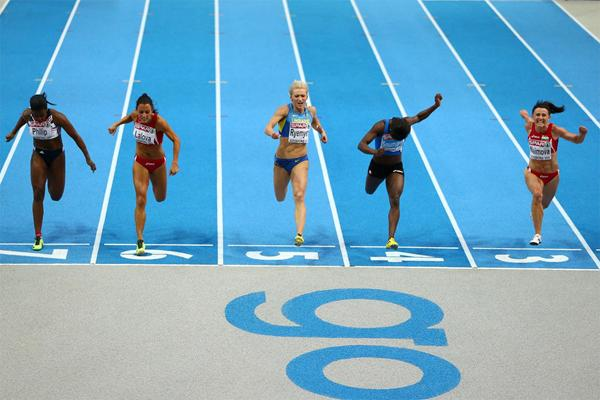 Tezzhan Naimova wins a surprise gold medal in the 60m at the European Indoor Championships (Getty Images)