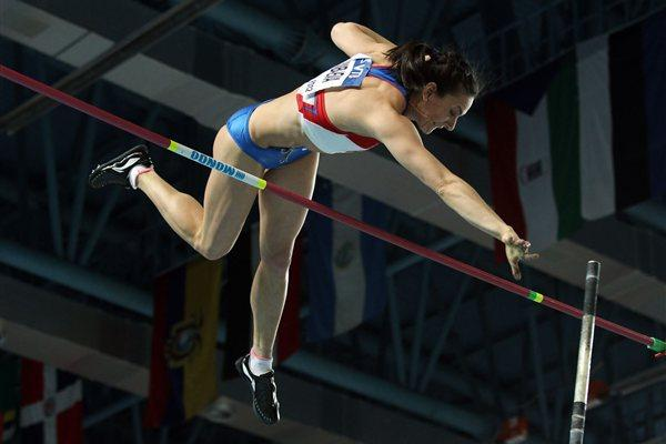 Elena Isinbaeva of Russia competes in the Women's Pole Vault Final during day three - WIC Istanbul (Getty Images)