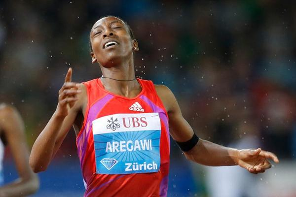 Abeba Aregawi, victorious in Zurich (Gladys Chai van der Laage)
