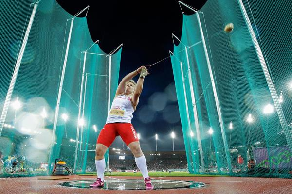 Anita Wlodarczyk breaks the championship record in the hammer at the European Championships (Getty Images)