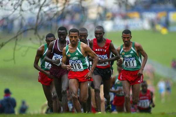 Bekele heads the men's short race (Getty Images)