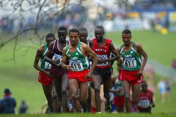 Bekele heads the men's short race (Getty Images)