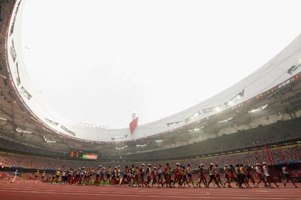 The men's 50km walk gets under way (Getty Images)