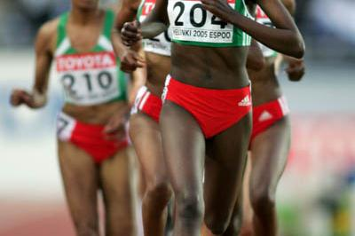 Tirunesh Dibaba of Ethiopia in the 5000m final (Getty Images)
