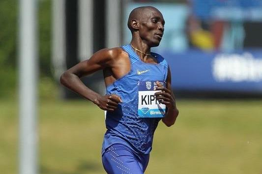 Asbel Kiprop at the 2016 IAAF Diamond League meeting in Birmingham (Jean-Pierre Durand)