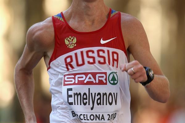 Stanislav Emelyanov cruising towards the European 20Km Race Walk title in Barcelona (Getty Images)