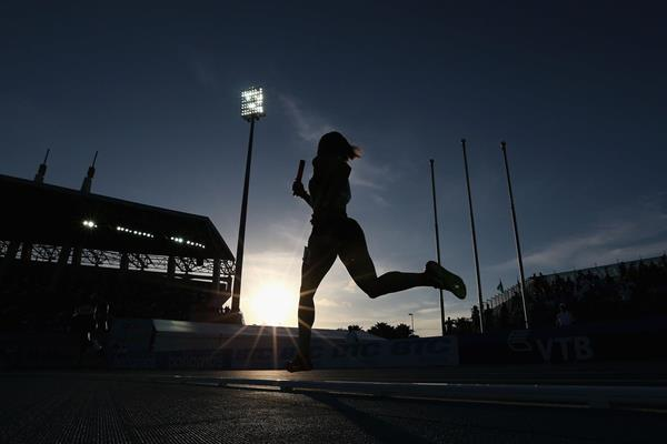 The women's 4x400m at the IAAF World Relays in Nassau (Getty Images)