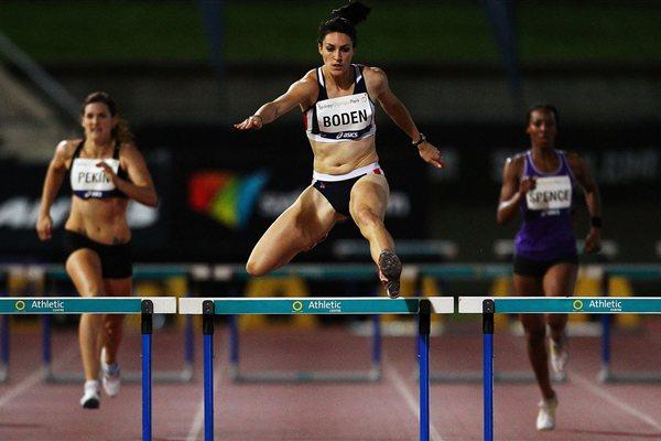 Lauren Boden wins the 400m Hurdles in Sydney (Getty Images)