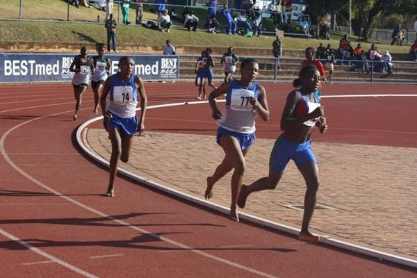 Klaudia Moses of Namibia at the Southern Region Youth Championships (IAAF.org)