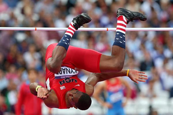 USA's Erik Kynard competes in the high jump at the London 2012 Olympics (Getty Images)