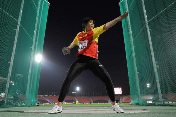 Xie Yuchen, winner of the girls' Discus at the 2013 World Youth Championships in Donetsk (Getty Images)