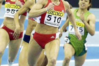 Stephanie Graf (AUT) in the semi finals of the women's 800m (Getty Images)