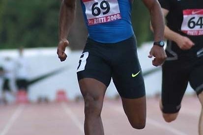 Asafa Powell running in Rieti, he stormed to 9.77 and 9.82 (Lorenzo Sampaolo)