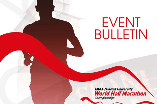 Event bulleting for the IAAF/Cardiff University World Half Marathon Championships Cardiff 2016 ()