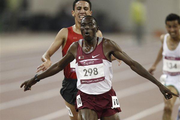Arab Games Steeplechase champion Abubaker Ali Kamal  (Organisers)