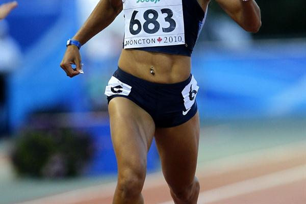 Stormy Kendrick wins the 200m, USA's first gold medal of the 2010 IAAF World Junior Championships (Getty Images)