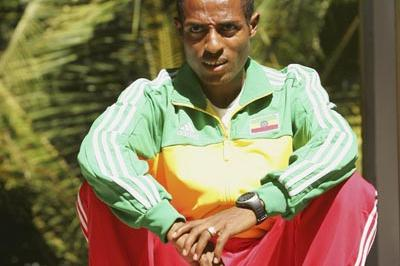 Kenenisa Bekele in Mombasa (Getty Images)