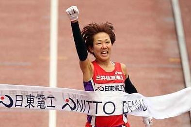 Yoko Shibui wins the 2009 Osaka International Ladies Marathon (Yohei KAMIYAMA/AgenceSHOT)