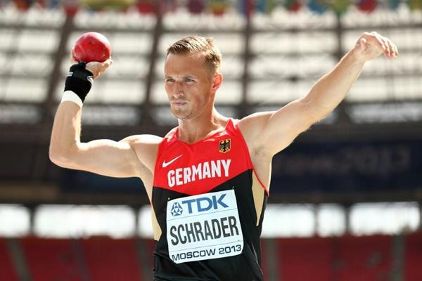 Michael Schrader in the men's Decathlon Shot Put at the IAAF World Championships Moscow 2013 (Getty Images)