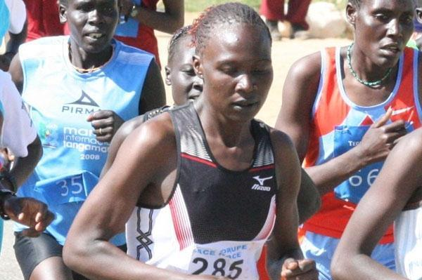 Chemtai Rionotukei on the way to her win at the Tegla Loroupe Peace Race (David Macharia)
