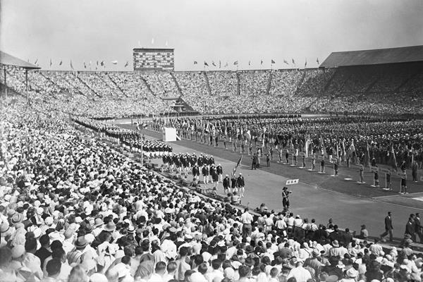 The US team at the opening ceremony of the 1948 Olympic Games (Getty Images)