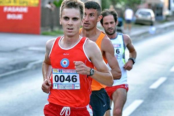 Darko Zivanovic leads the Vidovdan Road Race in Brcko (Ognjen Plavsic / Organisers)