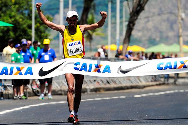 Claudio Villanueva wins the 50km at the Brazil Race Walk Cup in Rio (Getty Images)
