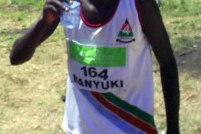 Barnabas Kosgei after winning the men's 12km race at the Kenya Armed Forces Championships in Nairobi (Omulo Okoth)