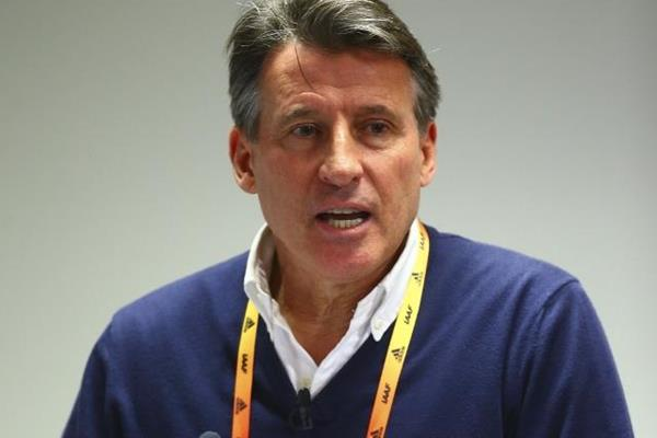 IAAF President Sebastian Coe at the press conference for the IAAF/Cardiff University World Half Marathon Championships Cardiff 2016 (Getty Images)