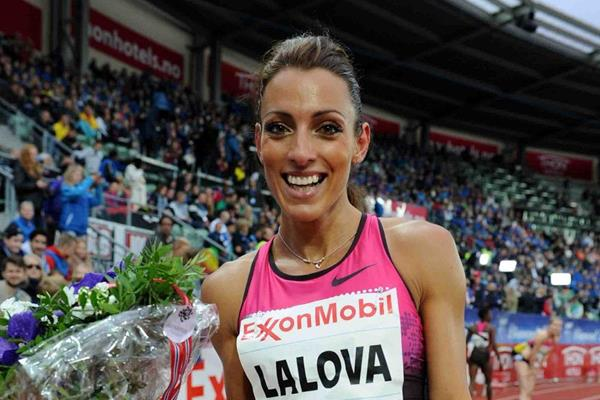 Ivet Lalova at the 2013 IAAF Diamond League meeting in Oslo (Jiro Mochizuki)