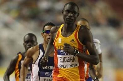 David Rudisha on his way to winning the men's 800m in Split (Getty Images)