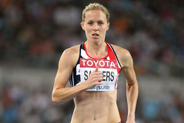 Nicola Sanders of Great Britain competes in the women's 400 metres semi finals during day two  (Getty Images)