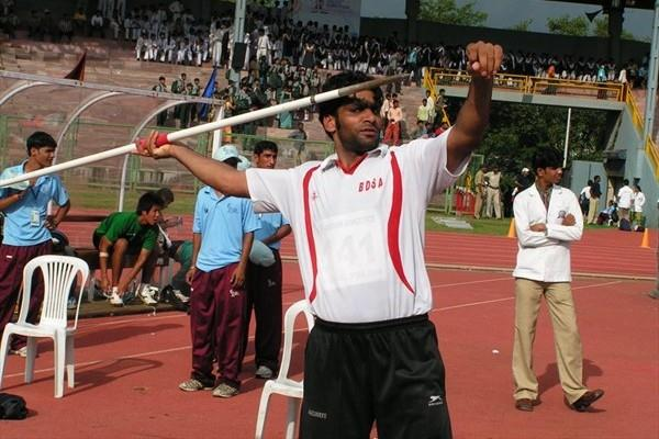 Javelin thrower Anil Singh of India who breached the 80-metre mark at Bhopal (Rahul Pawar)